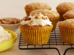 Banana Muffins with Mascarpone Cream Frosting from FoodNetwork.com