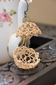 Lampshade Lace Earrings