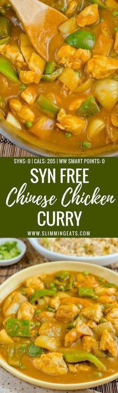 Chinese Chicken Curry - Now you can Create one of the most popular takeaway dishes in your own home completely Syn Free. - Gluten Free, Dairy Free, Paleo, Slimming World and Weight Watchers friendly Slimming World Fakeaway, Slimming World Dinners, Slimming World Recipes Syn Free, Slimming World Diet, Slimming Eats, Slimming World Chicken Recipes, Fake Away Slimming World, Slimming World Lunch Ideas, Slimming Word