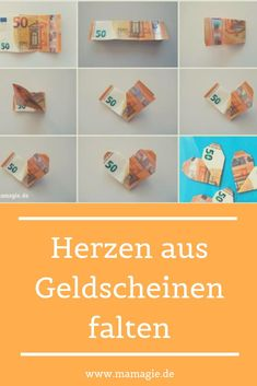 Simple step-by-step guide to folding a bill to the heart. Pretty money gift for the wedding or the birthday. Origami Diy, Useful Origami, Origami Boxes, Dollar Origami, Origami Ball, Origami Paper, Plant Fungus, Origami Flowers, Origami Hearts