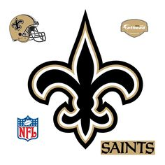 New Orleans Saints: Logo - Giant Officially Licensed NFL Removable Wall Decal Fathead Wall Decal