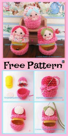 5 Adorable Knit Russian Dolls – Free Patterns #freeknittingpatterns #doll #giftidea