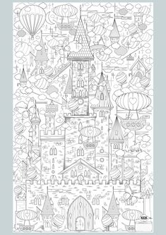 King of my Castle - Fantasy Abstract Doodle Zentangle Paisley Coloring pages colouring adult detailed advanced printable Kleuren voor volwassenen coloriage pour adulte anti-stress kleurplaat voor volwassenen