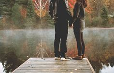Stand outside with me, on a foggy morning, on a dock, listening to the silence, just the silence. It's truly, pure bliss.~