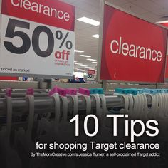 10 Tips for Shopping Target Clearance by Mom Creative