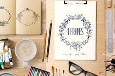 Hand made 4 Frames by Webvilla on Creative Market