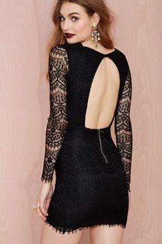 Reverse Havana Lace Dress - Black   Shop Dresses at Nasty Gal