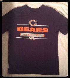 EUC+ Youth Medium CHICAGO BEARS NFL T Shirt Tee Navy Blue  NFLApparel a135db4a3