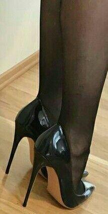 stiletto heels try on Sexy High Heels, High Heels Boots, Frauen In High Heels, Black Stiletto Heels, Beautiful High Heels, Sexy Legs And Heels, Hot Heels, High Heels Stilettos, Womens High Heels