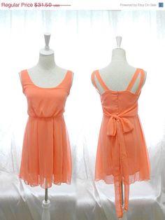 Valentine Day Sale Sweet Peachy Peach Orange by miadressshop,