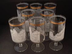 Barware Collection - CERA - TEN YEAR DOW-JONES INDUSTRIAL AVERAGE - FOOTED…