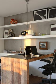 Paint Colors Home Office Design Ideas. Hence, the requirement for house offices.Whether you are intending on adding a home office or remodeling an old room into one, right here are some brilliant home office design ideas to help you get started. Mesa Home Office, Home Office Space, Small Office, Home Office Desks, Home Office Furniture, White Office, Home Offices, Furniture Ideas, Loft Office