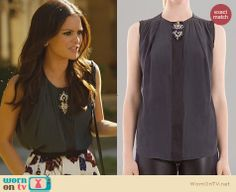 Zoe's bead detail top on Hart of Dixie. Outfit Details: http://wornontv.net/23480 #HartofDixie #fashion