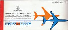 SAA ticket Passenger Tickets, Print Ads, Visual Identity, Vintage Posters, South Africa, African, Branding, Zimbabwe, Aviation