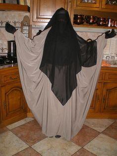 Butterfly abaya and multi layer niqaab, I like the easy to make  abaya