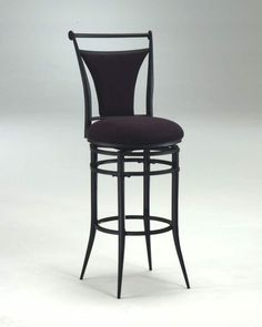 Hillsdale Cierra Swivel Counter Stool, Black finish with Fawn Faux-Suede Fabric - Nice quality and just what I was looking for.This Hillsdale Furniture Metal Stool, Metal Bar Stools, Home Bar Furniture, Furniture Stores, Furniture Makeover, Furniture Ideas, Swivel Counter Stools, Upholstered Stool, Kitchen Fabric