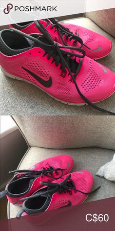 ⬇️ Hot Pink Nike Sneakers Barely worn - maybe 3 times.