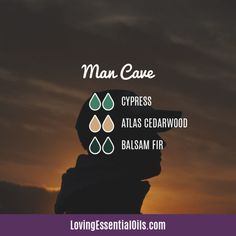 Cypress Diffuser Blends - Boost Mood & Breathe Easy! by Loving Essential Oils | man Cave with cypress, altas cedarwood, and balsam fir essential oil. Get more blends PLUS our free printable cheat sheet with the recipes, just visit our blog post. #lovingessentialoils #essentialoilblendsformen #mancavediffuserblend