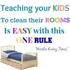 SMART!!!    Smart way to teach your kids to clean without reminding them or feeling the need to nag them.  It is a simple way to teach them that lets them be responsible for themselves. | Your Modern Family