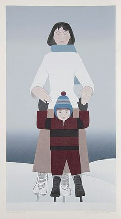 Will Barnet - Skaters - Hand Signed by Will Barnet Serigraph Last Ones! Complete colection of art, limited editions, prints, posters and custom framing on sale now at Prints. Mother Art, Mother And Child, Fairfield Porter, Rockwell Kent, Frames For Canvas Paintings, Barnet, Canadian Art, Affordable Wall Art, Cool Posters