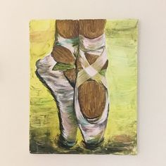 Excited to share this item from my shop: Ballet Shoes Ballet Art, Ballet Shoes, Shoe Art, Acrylic Painting Canvas, Black Art, Ballerina, Contemporary Art, Etsy Shop, Baby