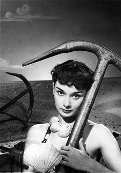 Audrey Hepburn, photo by Angus McBean, 1950