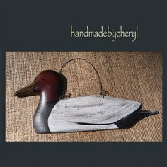 Canvasback Duck Handpainted Wooden  Peg Hanger by cherylweaver, $5.00