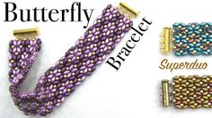 Easy Butterfly Bracelet with Superduo - Beading Tutorial