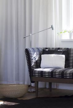 Mid century modern divan Johanna Gullchsen upholstery Ikea Sinnerlig basket