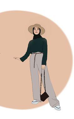 Cute Couple Art, Cute Couples, Hijab Drawing, Stylish Hijab, Anime Muslim, Hijab Cartoon, Islamic Girl, Muslim Girls, Muslim Fashion