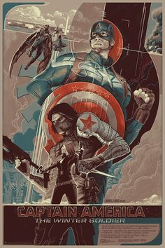 """Movie Poster: """"Captain America: Winter Soldier"""" by Rich Kelly"""