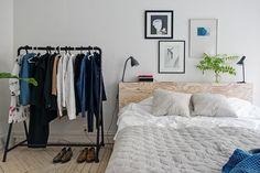 Övre Djupedalsgatan 11 D Nordic Bedroom, Diy Interior, My Dream Home, Wardrobe Rack, Diy Furniture, Sweet Home, Instagram, Vintage Homes, Headboards