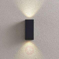 Lavina outdoor spotlight, dark grey GU10 2-bulb | Lights.ie