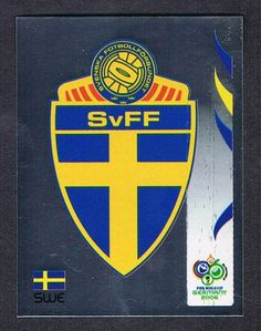 Sweden card for the 2006 World Cup Cup Finals. 2006 World Cup Final, Cup Cup, Porsche Logo, Finals, Sweden, Germany, Cards, America's Cup, Trading Cards