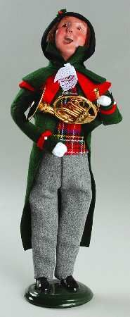 Byers Choice Ltd Byers Choice Carolers at Replacements, Ltd Piece Code: NB411  Piece Name: Waite With French Horn - No Box  Style: 490G