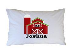 Farm Pillow Case Kids Personalized Pillow