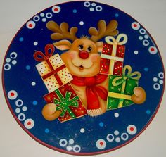 renos navideños en madera country - Buscar con Google Christmas Labels, Felt Christmas Ornaments, Wood Ornaments, Christmas Printables, Christmas Art, All Things Christmas, Vintage Christmas, Country Paintings, Christmas Paintings
