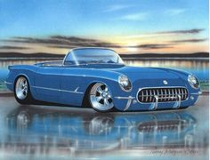 Hey, I found this really awesome Etsy listing at http://www.etsy.com/listing/155686969/1953-54-55-chevy-corvette-hot-rod-car