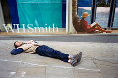 Nick Turpin- Street Sunbather- I find the contrast between the paradise portrayed in the ad and reality illustrated by the homeless man is interesting. I really like how Turpin interacts with advertisements in his works
