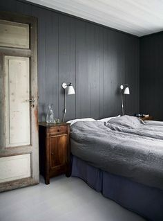 my scandinavian home: The rustic Norwegian log cabin hide-away Home Bedroom, Bedroom Decor, Bedroom Wall, Home Interior, Interior Design, Farmhouse Interior, Scandinavian Home, Minimalist Bedroom, Beautiful Bedrooms