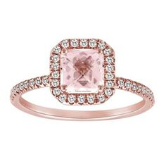 We know you loved the round and the cushion cut morganite rings so we now brought the princess cut morganite rings. This gorgeuos ring mimcs the look of the unaffordable pink diamond. We even have a matching wedding band if you decide to use this as your engagement ring