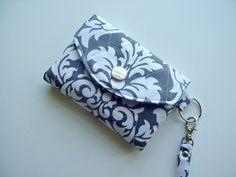 Vera Bradley style ID Wallet/Key Chain in by SassySaxDesign, $15.50
