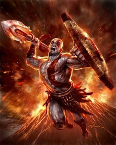 Kratos God of War . - Ghost of Sparta by Andy Park * Kratos God Of War, Gods Of War, Andy Park, Game Background, Gaming Wallpapers, Video Game Characters, Video Game Art, Barbarian, Gods And Goddesses