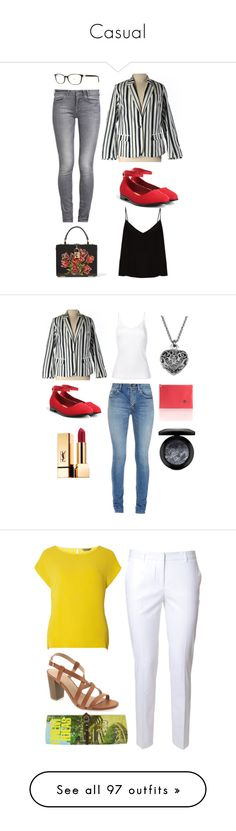 """""""Casual"""" by laubachjohanna ❤ liked on Polyvore featuring Torrid, GUESS, Raey, Dolce&Gabbana, Yves Saint Laurent, H Beauty&Youth, IF Bags, MAC Cosmetics, Alberto Biani and Dorothy Perkins"""