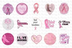 Breast Cancer Bottle Caps by ideasbyjamie on Etsy, $2.00