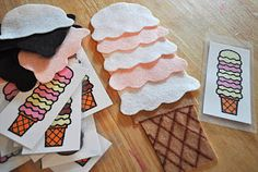 ice cream color patterning, instead of the alphabet like I originally planned.