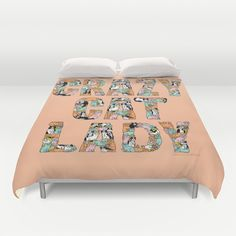 Warn the men away ... Crazy Cat Lady Duvet Cover by gemma correll - $99.00