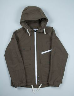 Engineered Garments Olive High Count 60/40 Wind Parka