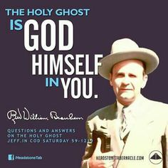 The Holy Ghost is He!