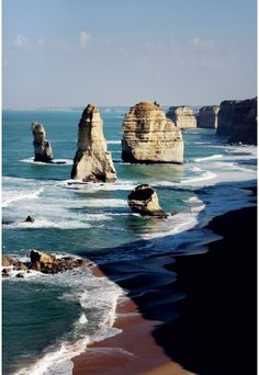 The Twelve Apostles - Ah, bummed I didn't get to see this last year. I'll be back, Australia... #Travel #BucketList